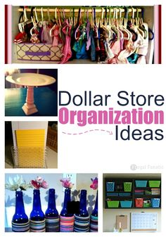 13 Dollar Store Organization Ideas for you to try in your home.