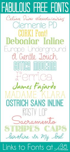 Love these FREE FONTS! Get the links and instructions to download at the36thavenue.com  #fonts
