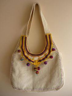 fa13acb6f3bf SALE ----Natural Linen Hobo Bag With Crocheted lace/ Zippered Closure