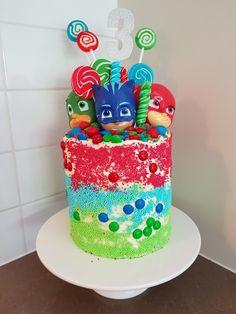 PJ Masks Birthday Cake Pj Masks Birthday Cake, Toddler Birthday Cakes, 4th Birthday Cakes, Boy Birthday Parties, Birthday Ideas, Pj Mask Cupcakes, Pj Masks Cakes, Torta Pj Mask, Pjmask Party