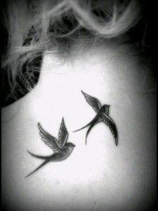 girl bird tattoo 30