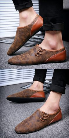 New Arrival Spring Hip Hop Style Mens Dress Shoes Leather Mens Slip Ons High Quality Zapatos Hombre Soft Marron Grey Beige
