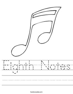 Whole Note Worksheet from TwistyNoodle.com | Home School ...
