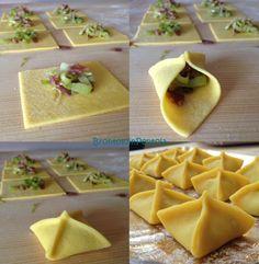 Ravioli alla Curcuma con Speck e Porri Make It Simple, Mexican, Ethnic Recipes, Food, Essen, Meals, Yemek, Mexicans, Eten