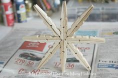 Super Easy Clothespin Stars