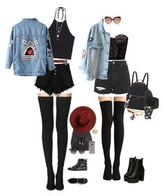 """punk rock"" by audrey-balt ❤ liked on Polyvore featuring Topshop, Linda Farrow, Henri Bendel, Alexander McQueen, rag & bone, Tamara Mellon, Michael Kors, LIU•JO, Monki and Chicnova Fashion"