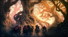 Cursed Forest, Andreas Rocha on ArtStation at https://www.artstation.com/artwork/cursed-forest