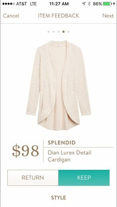 This looks like another good layering option for this spring/summer. Splendid Dian Lurex Cardigan