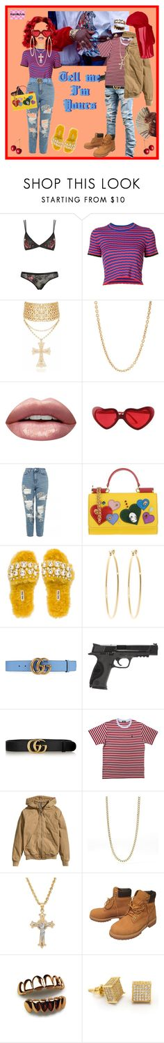"""""""U the 1 I keep it real w."""" by lilcud ❤ liked on Polyvore featuring Proenza Schouler, Mark Davis, Huda Beauty, Topshop, Dolce&Gabbana, Miu Miu, Brooks Brothers, Gucci, Smith & Wesson and H&M"""