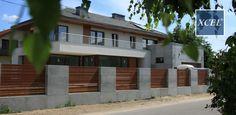 nowoczesne ogrodzenie drewniane poziome beton architektoniczny warszawa