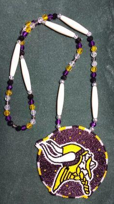 Vikings medallion beadwork