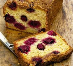 Blackberry and apple loaf