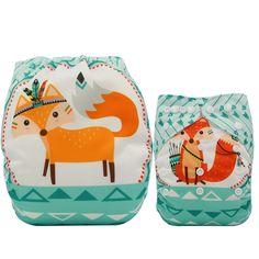 bcc56ded8c3c Ohbabyka bebé pañales reutilizables pañales cambiando Navidad imprimir  unicornio recién nacido pañal de tela lavable pañal