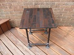 end table ideas.   One circle one square and a coffee table. Maybe even a shelf/sofa shelf table???