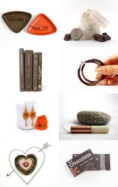 Milk Chocolate and Mandarin Oranges by ms blue on Etsy--Pinned with TreasuryPin.com