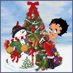 Betty Boop Pictures Archive: More Betty Boop Christmas images