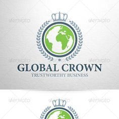 Crown Logo Graphics, Designs & Templates from GraphicRiver (Page Crown Logo, Eco Green, Coreldraw, Graphic, Logo Templates, Logos, Design, Design Comics, Logo
