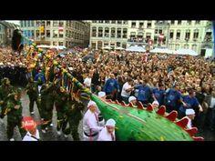 """Ducasse de Mons, le """"Doudou"""" - descente de la châsse de sainte Waudru, procession, montée du Car d'Or, combat dit Lumeçon (combat entre Saint-Georges et le dragon)"""