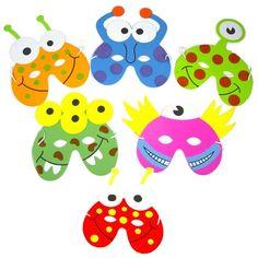 Monster Face Masks for children - Click Image to Close