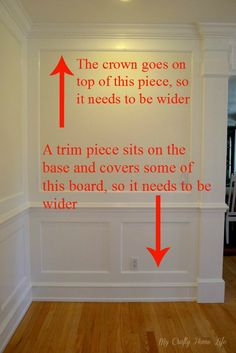 Calling it Home: Wall Treatment Specs. – Isolde Fairclough Calling it Home: Wall Treatment Specs. Calling it Home: Wall Treatment Specs. Wall Molding, Moulding, Wainscoting Wall, Wainscoting Kitchen, Crown Molding, Paint Your House, Wall Trim, Trim Work, Moldings And Trim