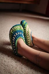 Ravelry: Galilee Slippers pattern by Tara Murray. Link to pattern on Ravelry