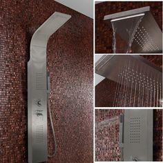 Duschpaneel Duschsäule Duscharmatur Duschset Edelstahl Wasserfall  Regendusche
