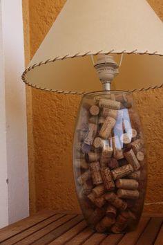 Cork lamp. Source: Olivialehti.fi Do it yourself lamp!   Strictly Style
