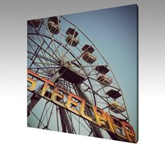 Photo Art Canvas Steel Pier Ferris Wheel by theARTofSQUARE on Etsy
