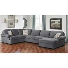 Abbyson Tanya Grey Fabric 4-piece Sectional Sofa | Overstock.com Shopping - The Best Deals on Sectional Sofas