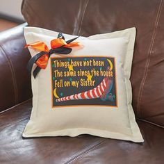 This adorable pillow is an ideal gift for a sister-or fan of The Wizard of Oz. There's no place like a couch, chair, or bed for this wickedly fun throw pillow.