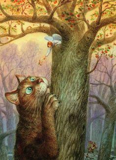 Кот и Ангел в работах Владимира Румянцева - Ярмарка Мастеров - ручная работа, handmade