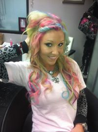 Hair Chalking think I might try this for my bday