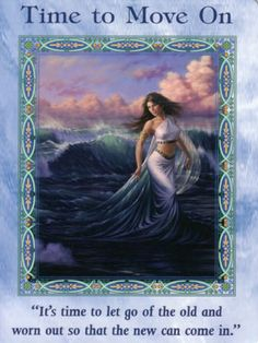 Time to Move On Card Extended Description - Mermaids and Dolphins Oracle Cards by Doreen Virtue