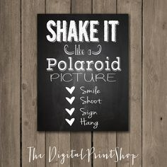 DIY PRINTABLE ARTWORK - FAST DELIVERY , INEXPENSIVE & EASY! Fun typography art print digital file(.jpg). Perfect Wedding / Party Decor