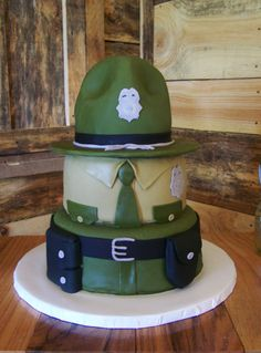 My Cake Art Elizabethton Tn : With Love & Confection~ State Trooper Hat cake sculpture ...