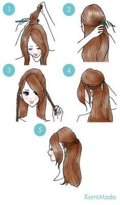 Hair Diy Tutorial Frisuren Half Up Trendy Ideas - Hair Diy Tutorial Frisuren Half Up Trendy Ideas # Frisuren - Trendy Hairstyles, Braided Hairstyles, Wedding Hairstyles, Fall Hairstyles, Hairdos, New Hair, Your Hair, Pinterest Hair, Tips Belleza