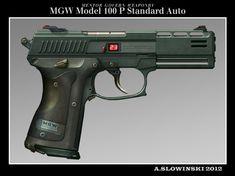 MGW Model 100 P Standard Auto Pistol by BlackDonner.deviantart.com on @deviantART