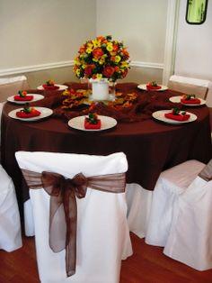 a fall table at rockwall wedding chapel rockwallchapelcom