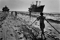 Shipbreaking, Chittagong, Bangladesh  1989. By Sebastião Salgado