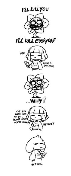 Here asriel have a snickers. You become a murderous flower when your hungry Undertale Undertale, Frisk, Have A Snickers, Snickers Ad, Sr Pelo, Sans And Papyrus, Toby Fox, Underswap, Fan Art