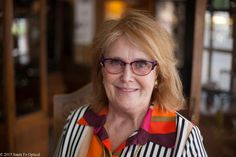 Here's the elegant Jean in one of her many pairs of glasses. We love the playful mix of purple, orange, and yellow in the Nolita by Lafont Paris. Lafont, Orange, Yellow, Santa Fe, Eyeglasses, Bring It On, Spirit, Pairs, The Originals