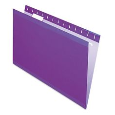 Use color to simplify filing: categorize subjects by color and count on the coordinating, lighter interior color to help prevent misfiles. Now includes letter size, printer-ready inserts to use with clear, PVC-free tabs (included). All critical wear points are polylaminate reinforced for extra durability. Exceptional tear and fold strength. Color: violet.
