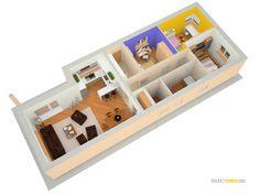 Projekt domu na úzky pozemok - SLIM