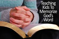 great ideas for memorizing Bible verses with the kiddos
