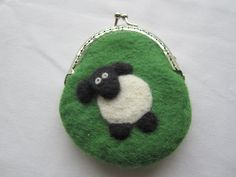 Pursewalletcoin purse hand felted flower design lovely gift pursewalletcoin purse hand felted cheeky sheep design lovely gift negle Choice Image