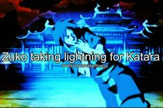 I really wanted Zuko and Katara to be together because of moments like this, and for me I always thought Katara and Aang had more of a brother/sister type relationship.