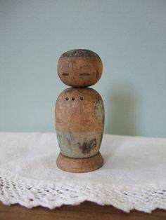 Vintage Wooden Kokeshi Doll by jessamyjay on Etsy