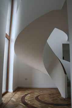 Custom helical stairs to fit your individual needs. Concrete Staircase, Concrete Floors, Polished Concrete, Sound Proofing, Park Avenue, Stairs, Flooring, Contemporary, Furniture