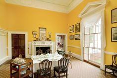 Thomas Jefferson's Monticello dining room.