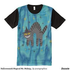 Halloweenish Magical Mr. Midnight All-Over Print T-shirt